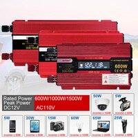 Xuyuan 1500w Inverter Car Power Converter Inversor 12 V 110 V for Car Household Diy 1500w 1000w 600w Power Inverter Us Adapter