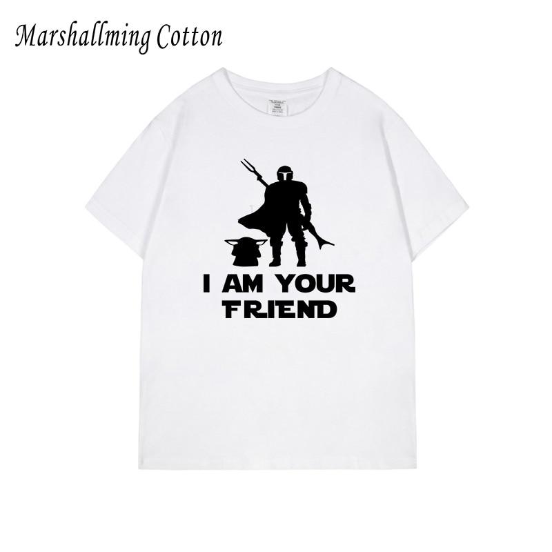 Camiseta para hombre de talla grande con estampado mandaloriano, camiseta blanca de regalo grande 3XL 4XL 5XL XXXXL XXXXXL