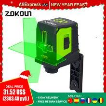 ZOKOUN livellatore Laser autolivellante orizzontale verticale a 2 linee a raggio verde a 2 linee con staffa a parete magnetica