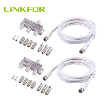 LiNKFOR 2 Pcs 3 Way TV / CATV Broadband Splitter 2500MHz 3-Way Coax Cable Splitter Bi-Directional MoCA 5-2500MHz фото