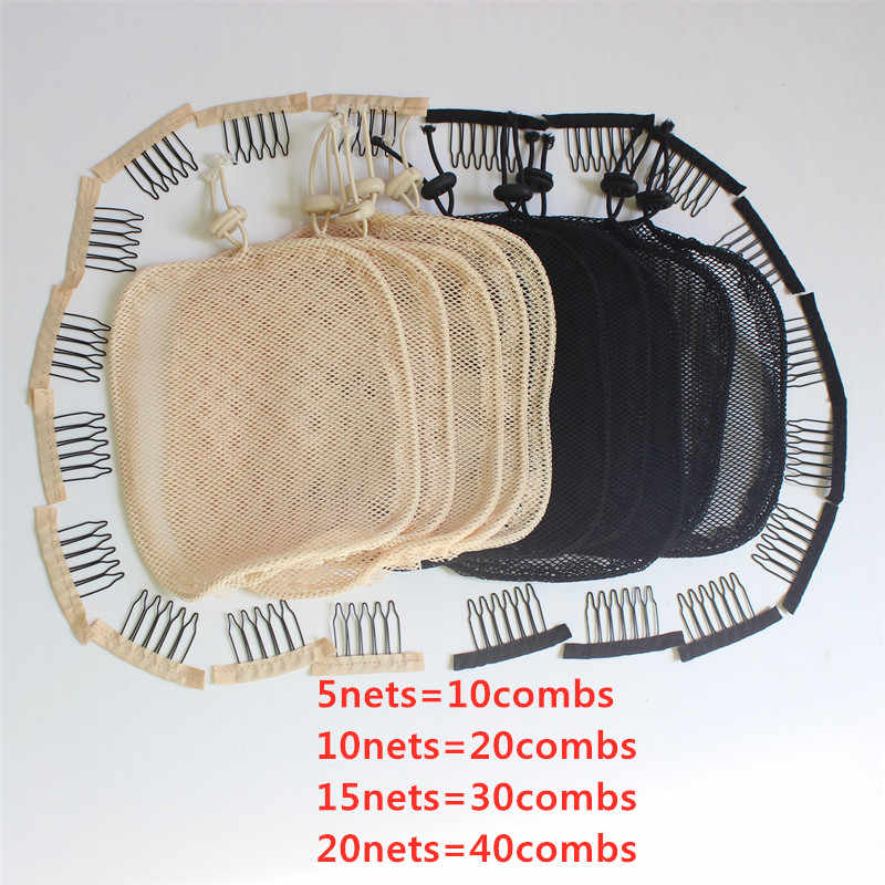 5-20 pc/lote net para fazer rabo de cavalo cor preta rede de cabelo de alta qualidade para fazer rabo de cavalo bela mulher ferramenta de cabelo