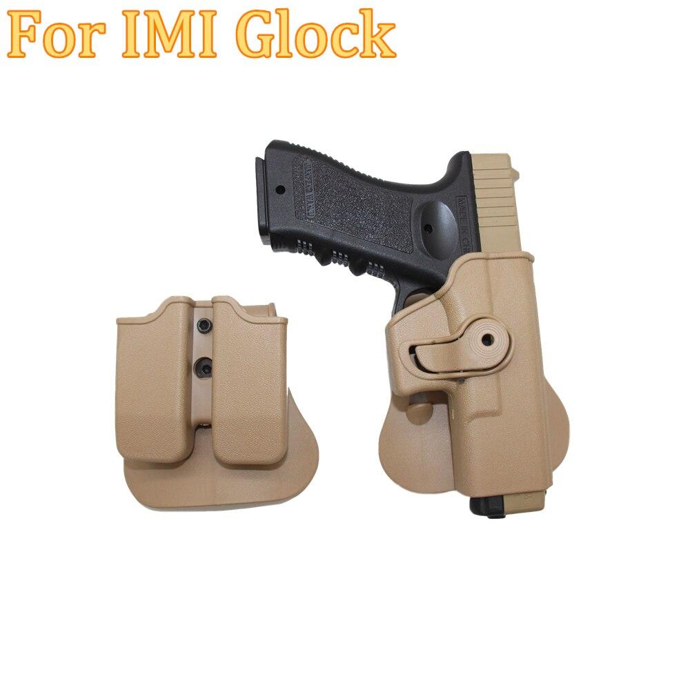 Coldre para Glock Coldre de Cinto Tan com a Revista Tático Glock Glcok Direita Militar 17 19 22 23 31 32 Preto Clipe Bolsas Mão
