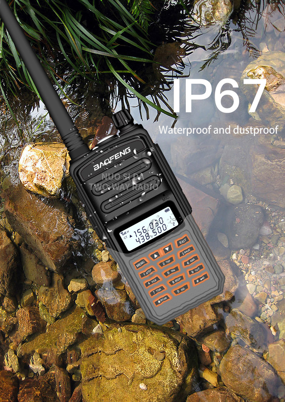 Baofeng Walkie Talkie Long Range 30km BF S5 Plus