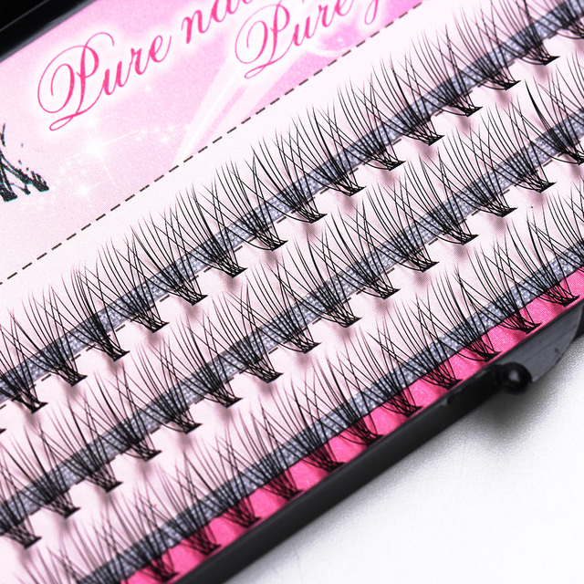 Free Shipping Professional Makeup Eyelashes 60pcs Fashion  Individual Cluster Eye Lashes Grafting False Eyelashes