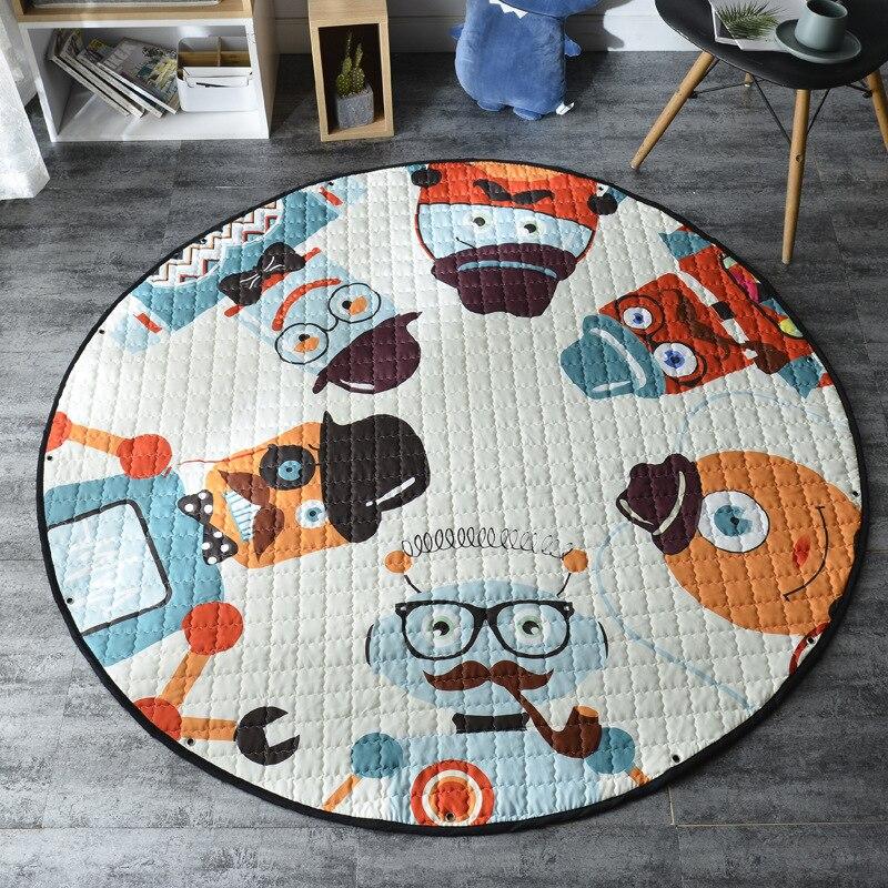H288a4a8b3d684166a398d86e4a6bcde9A Kid Soft Carpet Rugs Cartoon Animals Fox Baby Play Mats Child Crawling Blanket Carpet Toys Storage Bag Kids Room Decoration