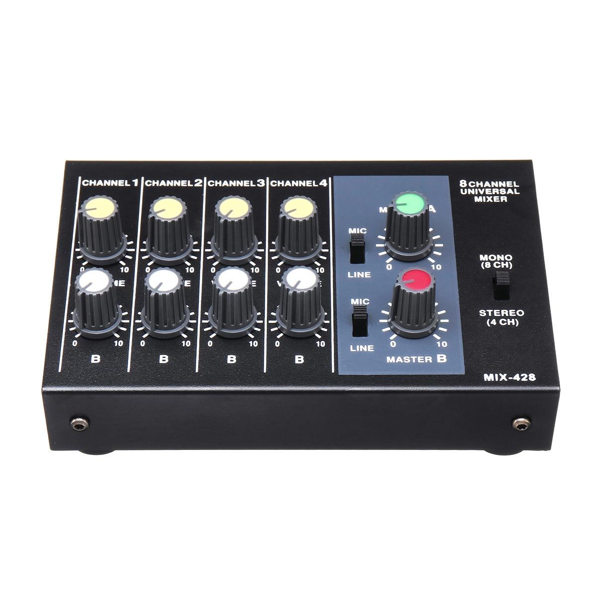 48V 5W Multi-Kanal Digital Mixing Konsole Karaoke Universal Mixer Konsole Mono/Stereo Mikrofon Mischer Konsole anpassung Panel