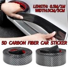 5D Carbon Faser Auto Aufkleber Styling Leisten Streifen DIY Rand Einstiegsleisten Universal Anti Scratch Außen Auto Zubehör