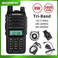 "baofeng uv 2020 Baofeng A58S Tri-Band 8W מכשיר הקשר 3800mAh נייד CB Ham Radio 10 ק""מ FM משדר לשדרג UV-82hp שני הדרך רדיו UV82 (1)"