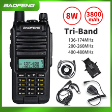 2020 BaoFeng A58S Tri-Band 8W Walkie Talkie 3800mAh Portable CB Ham Radio 10KM FM Transceiver upgrade UV-82hp Two Way Radio UV82