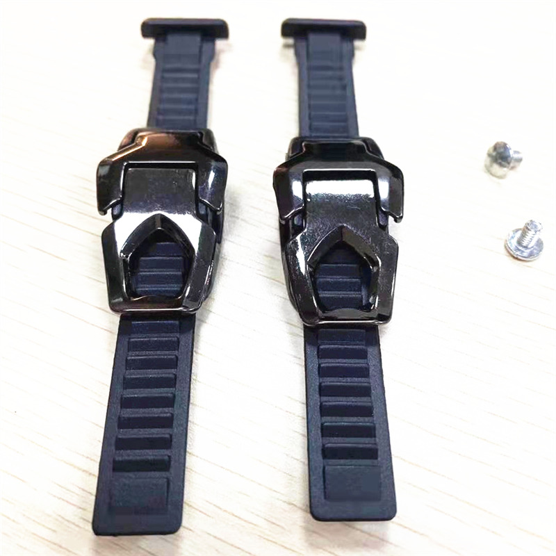 2 Sets Iron Head Inline Speed Skates Shoes Buckle Ankle Belt Tape Speed Patines Girdle Ribbon Fixed Band With Screws