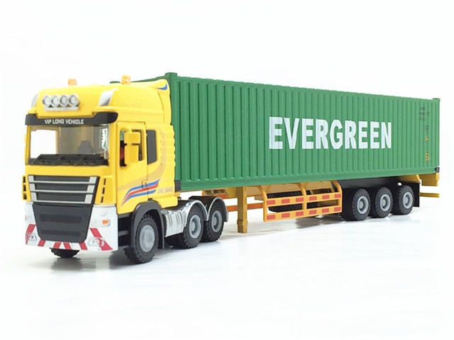 28 * 5 * 6CM Children Birthday Gift Maersk Semi-trailer Container Truck Alloy Transport Model 1:50 Toys Car