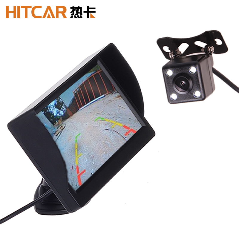 4.3 Inch 12V 24V Car Truck Bus Standalone LED Monitor Screen With Rear View Reverse Backup Camera Parking Kit Combo