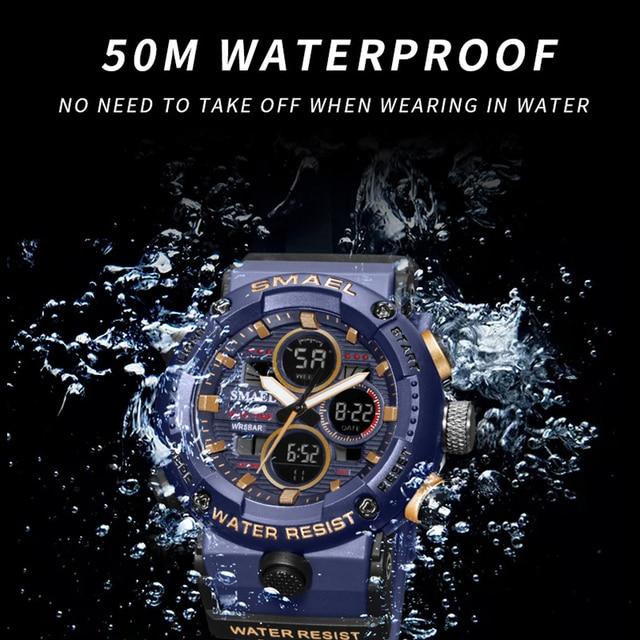 Smael sport watch men waterproof l