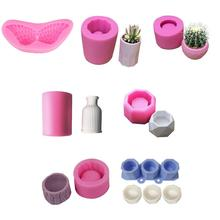 Silicone Mold Small House Stairs Shaped Cement Flower Pot Fl