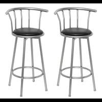 Vidaxl 2PCS 75 Cm Comfortable Bar Chair Bar Furniture Commercial Furniture Bar Stool Restaurant High Stool Coffee Chair
