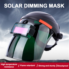 JCD Solar welding Mask Automatic Darkening Adjustable Range DIN4/9-13 MIG MMA Welding Helmet Lens for Machine