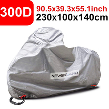 300D Water Rain Proof Outdoor Indoor Sun UV Protector Motorcycle Scooter Cover Covers Protector Silver Black D30