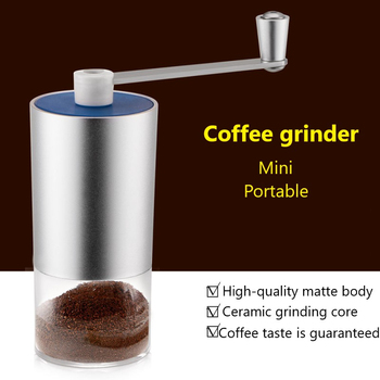 Manual Coffee Grinder Grains Spices Cereals Coffee Dry Food Grinder Mill Grinding Machine Gristmill Home Flour Powder Crusher image