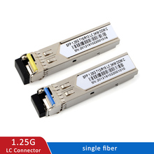 1Gb LC SFPโมดูลSingle Fiber Optical Transceiver Gigabit Fiber Sfpโมดูล3 80Kmใช้งานร่วมกับmikrotik Switch