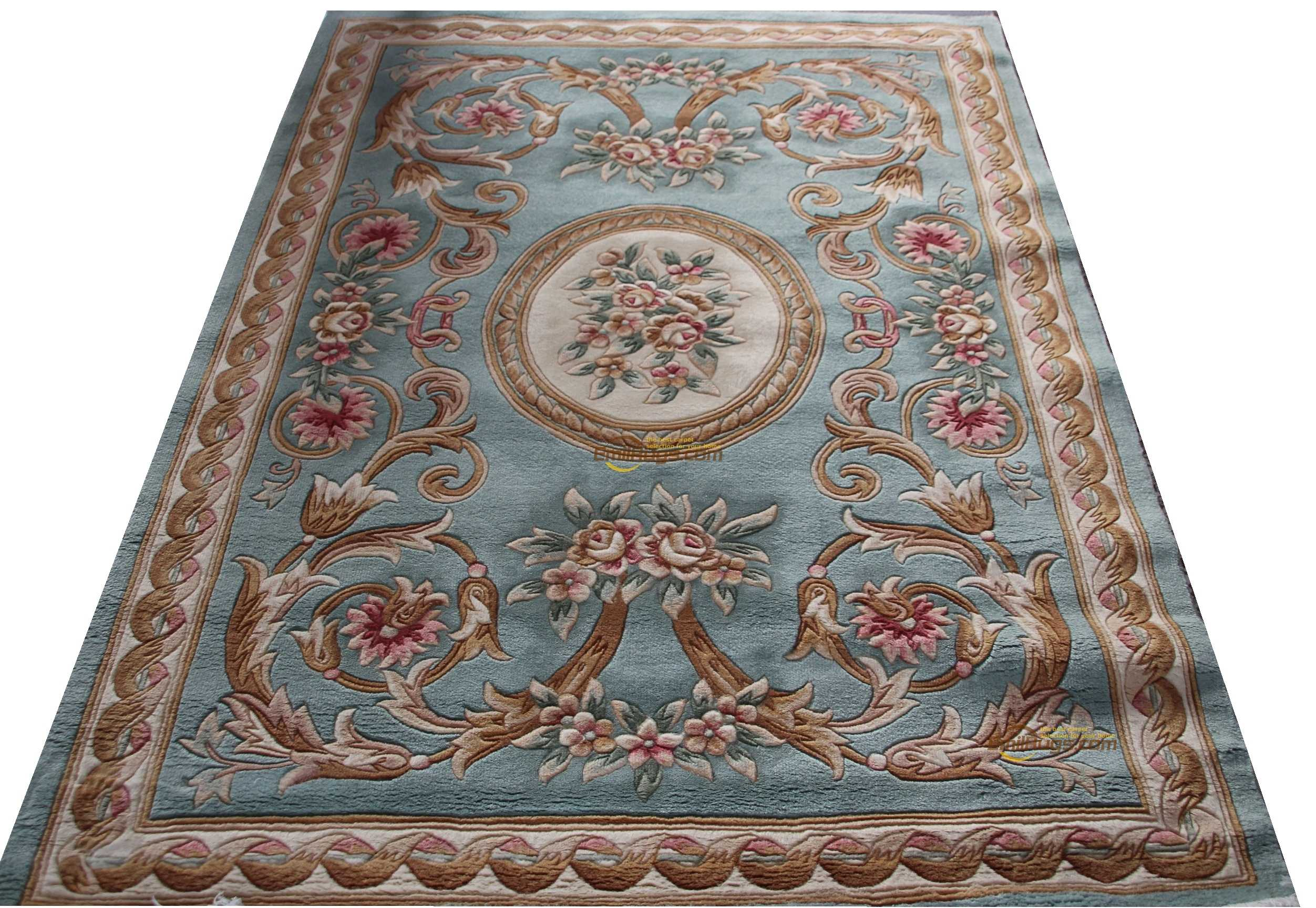 Carpet Handmade Traditional Savonnerie Inspired Needlepoint New Listing Carved Rectangular New Carpet Wool Knitting Carpets