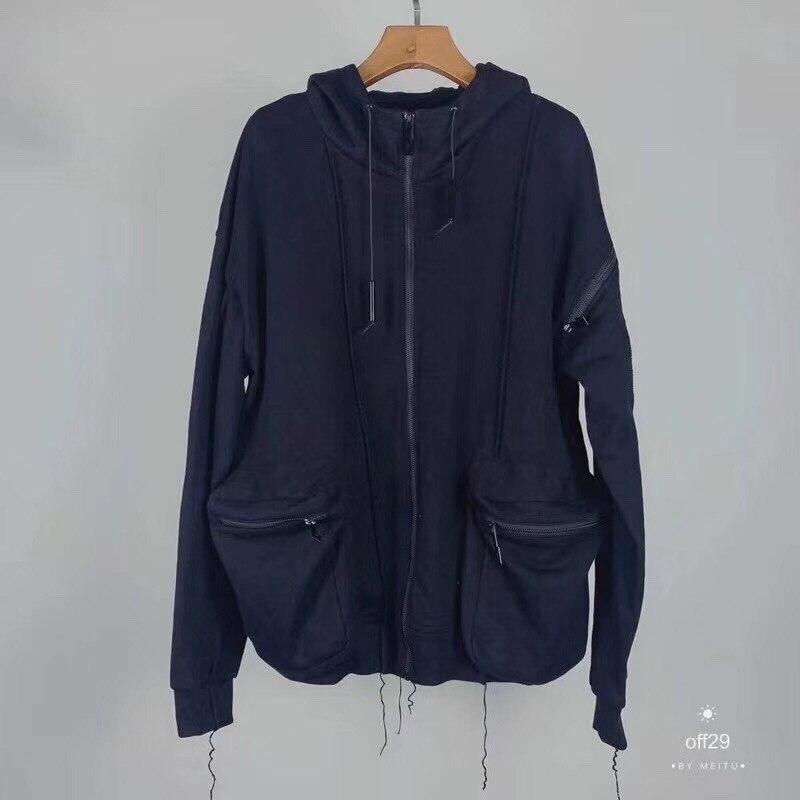 A COLD WALL ACW толстовки для мужчин и женщин лучшее качество хип хоп черный шнурок на молнии большой карман стиль холодные стены толстовки пулове