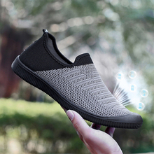 Summer Men's Sneakers Elastic band Flat Sports Shoes Hollow Mesh Walking Jogging Shoes soft breathable tenis shoes For men sneakers men mesh hollow sports shoes for male fashion walking jogging breathable summer shoes soft tenis masculino adulto