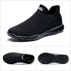 Image 2 - Onemix sapatos masculinos tênis esportivos 2019 nova meia sapatos malha respirável sapatos de caminhada formadores luz deslizamento sobre zapatillas hombre
