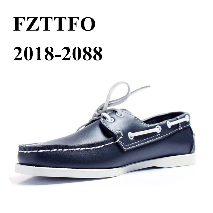 Men Genuine Leather Driving Shoes,New Fashion Docksides Classic Boat Shoe,Brand Design Flats Loafers For Men Women 2019A003