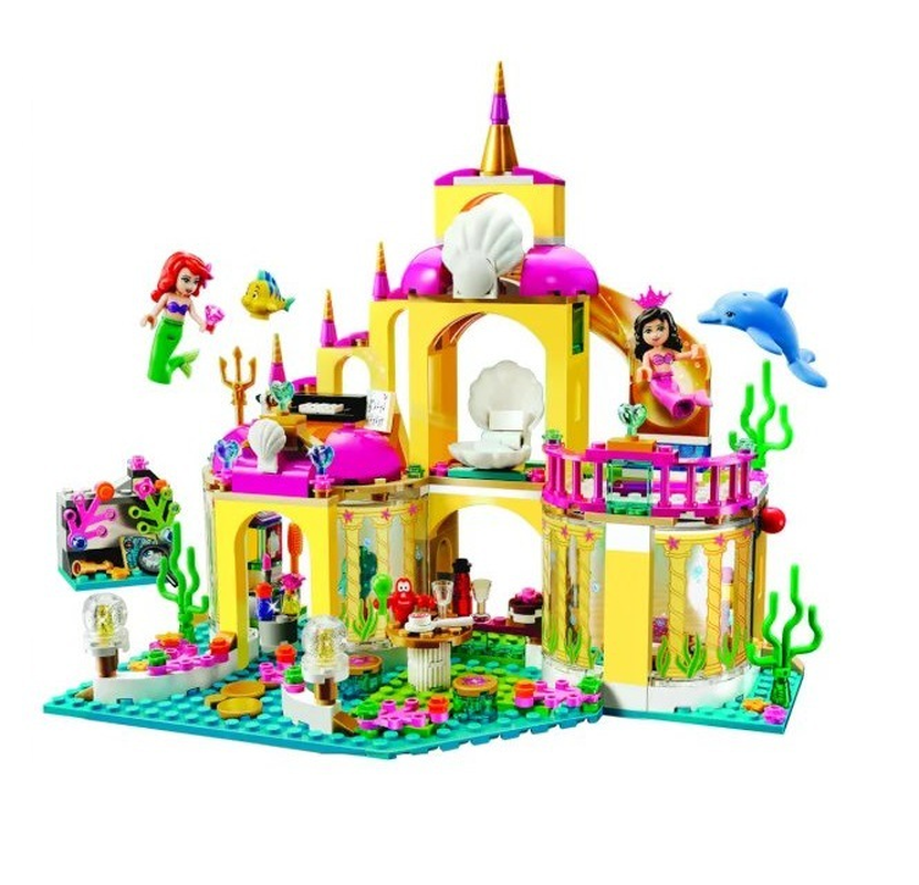 New Princess Underwater Palace 10436 Princess Compatible With Legoinglys Friends Model Building Kits Blocks Bricks Girl Toy Gift
