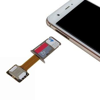 1Pcs Dual SIM SIM Adapter for Android TWO 2 Nano SIM NANO-SD Memory Card Converter For XIAOMI REDMI NOTE 3 4 3s hybrid double dual sim card micro sd adapter for android extender 2 nano micro sim adapter