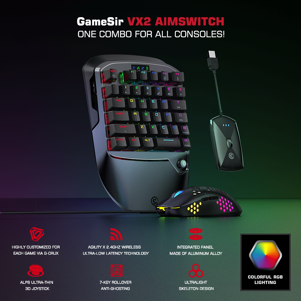 GameSir VX2 AimSwitch Gaming Keyboard Mouse and Adapter for Xbox One / PS4 / Nintendo Switch for Video Game Consoles PUBG COD|Gamepads| - AliExpress