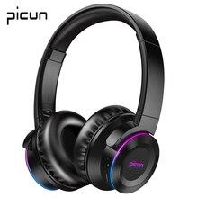 Picun B9 LED Light bezprzewodowe słuchawki Bluetooth Hifi bas Stereo słuchawki z zestaw bezprzewodowy mikrofonu wsparcie karty TF dla TV PC telefon komórkowy