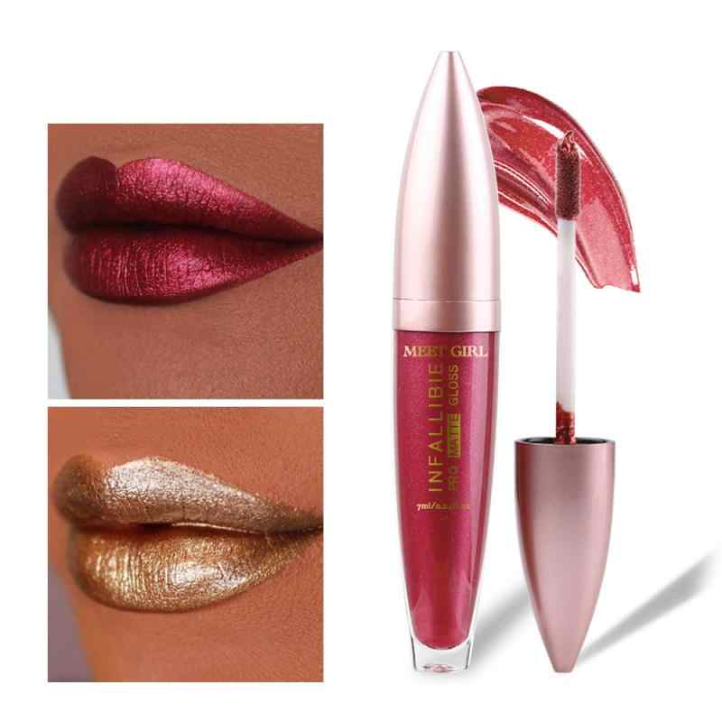 LULAA 12 Warna Lip Gloss Alami Vitamin E Matte Lip Glaze Make Up Kosmetik Tahan Lama Tahan Air Nude Lipstik Matte non