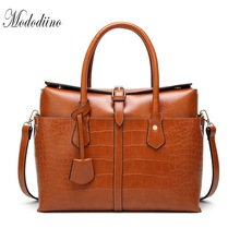 Mododiino Women Handbag Crocodile Pattern Shoulder Bag Crossbody Ladies Hand Bags Luxury Handbags Designer DNV1201