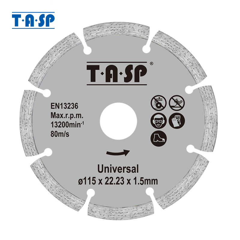 TASP 2pcs 115mm Diamond Cutting Disc 4.5