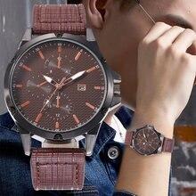 Часы наручные мужские кварцевые в винтажном стиле Брендовые