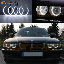 цена на For BMW E38 740i 750i 730d 740d 728i 1995-2001 XENON headlight Excellent Ultra bright illumination CCFL angel eyes kit Halo Ring