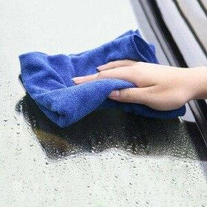 Image 5 - Nowy 50 sztuk ręcznik do mycia samochodu niebieski Anti Scratch szybkoschnący czyszczenie z mikrofibry wielofunkcyjny przyjazny dla skóry myjnia samochodowa 30*30cm