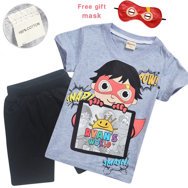 Ryan Toys Review Kids Cartoon Outfit Set Summer Cotton Tracksuit T-Shirt+Short
