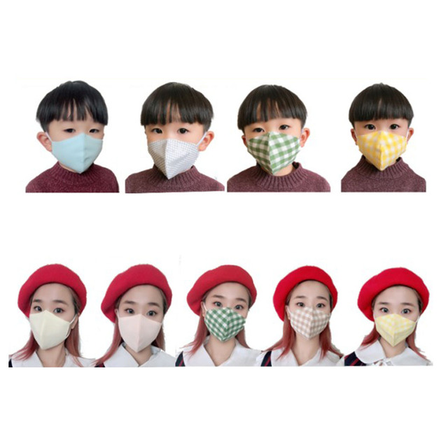 2pcs Cotton PM2.5 Mouth Mask Anti Dust Mask Activated Carbon Filter Windproof Mouth-Muffle Bacteria Proof Flu Face Masks Care 2