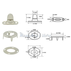 Image 2 - 10 Sets Screw Base Snaps Turn Button Boat Cover Enclosure Eyelet Canvas Snap Fastener Kayak Marine Boat Yacht Accessories Paddle