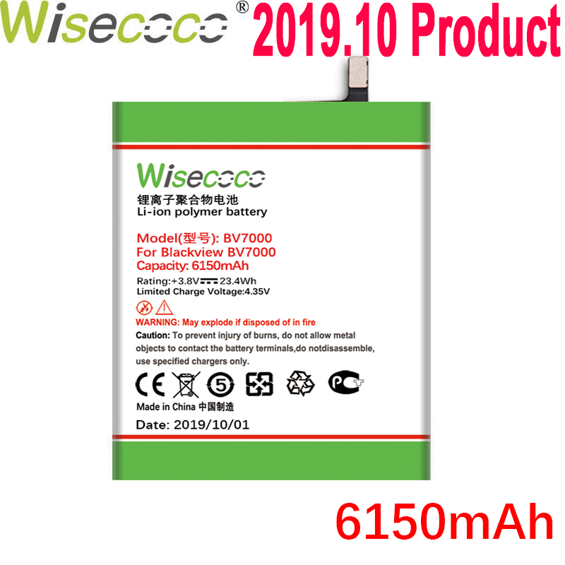 WISECOCO 6150mAh <font><b>Battery</b></font> For <font><b>Blackview</b></font> <font><b>BV7000</b></font> / <font><b>BV7000</b></font> <font><b>Pro</b></font> Mobile Phone Latest Production High Quality <font><b>Battery</b></font>+Tracking Number image