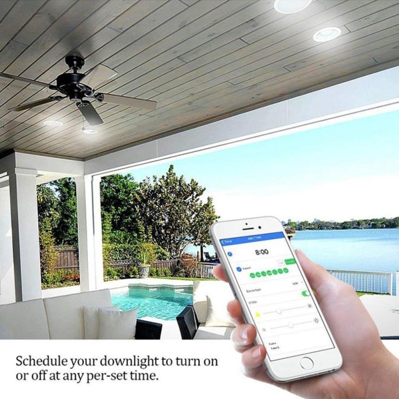Controle de Voz Inteligente com Sensor de Porta Tuya Inteligente Spots Alexa Amazon Dimmer Downlight Lâmpada Spotlight Faça Você Mesmo Casa Pir Led Luz