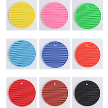 Non-slip Silicon Placemat for Dining Table,Round Heat Resistant Coasters Placemats for Kitchen Creative Clouds Silicon Mat