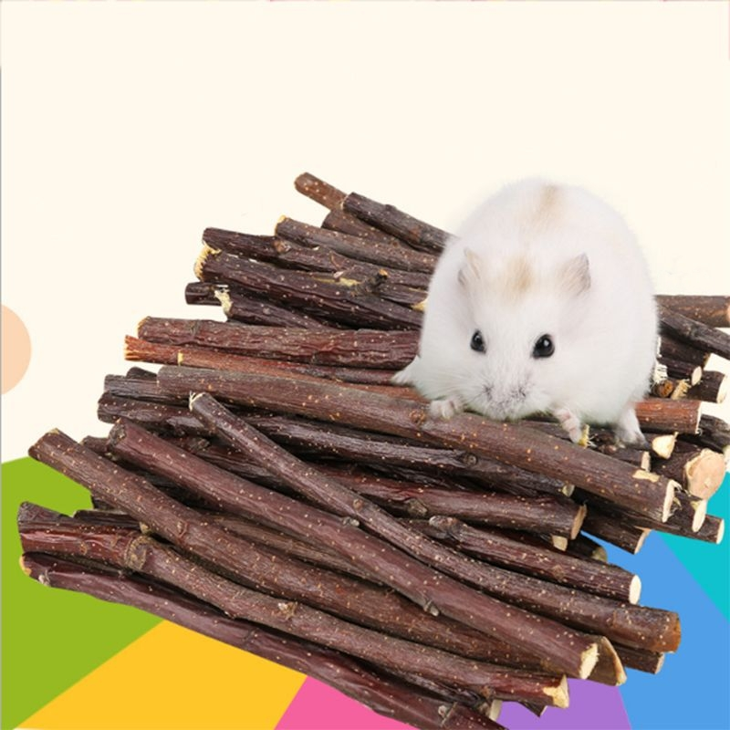 Professional Hamster Rabbit Teeth Grinding Apple Tree Stick   Minerals Molar Stone Chew Toys For Chinchilla Small Pet Supplies