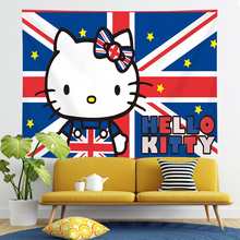 Tapestry wall Hello Kitty pink cute room decor wall hanging dorm decoration tapesty kawaii room Background Rice flag new 2020