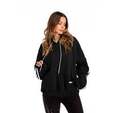 2019 women autumn hooded coat bat sleeve pocket thick hoodies cotton sweatshirt tops plus size casual sportswear Velvet