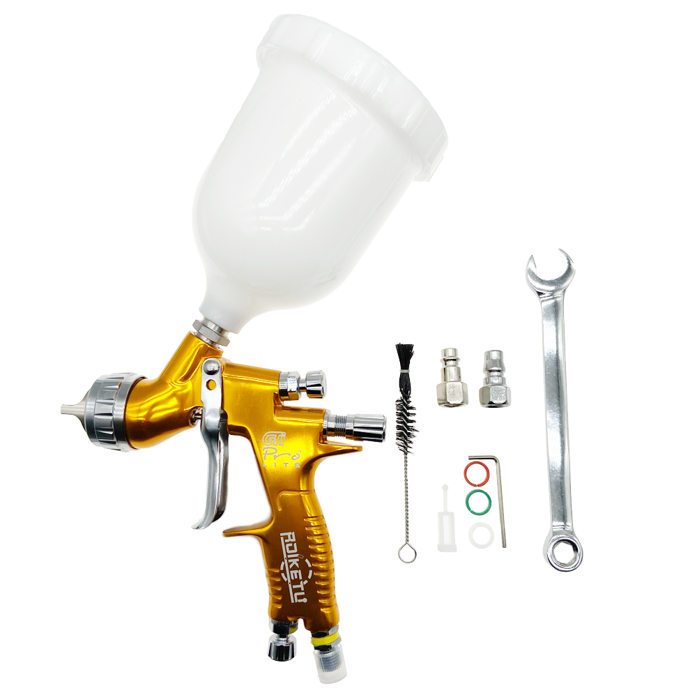 High Quality Professional GTI Pro Lite Golden Painting Gun TE20/T110 1.3mm Nozzle Spray Gun Paint Gun Water Based Air Spray Gun