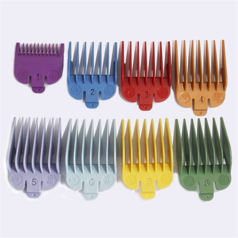 8 Pcs/set Hair Clipper Tooth Guides Combs Cutting Tool Oil Head Electric Clippers Magnet Caliper Limit Comb