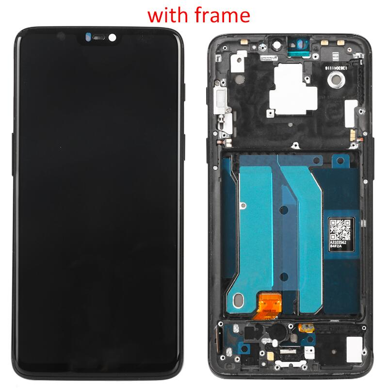 100% Tested Lcd 1+6 For <font><b>Oneplus</b></font> 6 1+ 6 LCD Display <font><b>A6000</b></font> A6003 Digitizer Screen Touch Panel Sensor Assembly Replacement Parts image